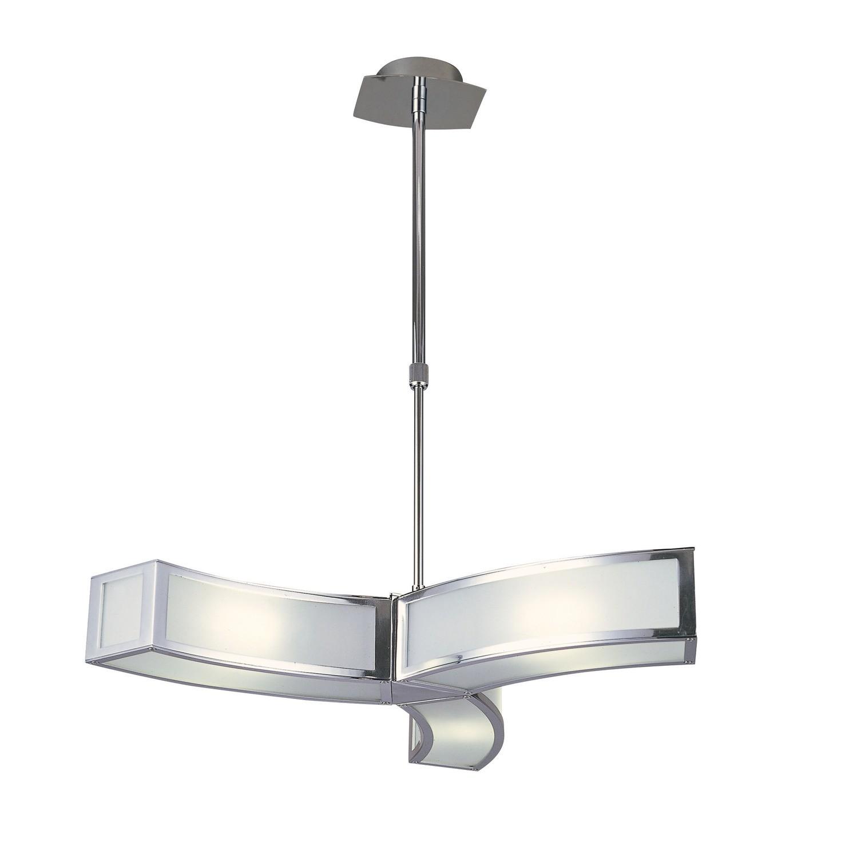 Duna GU10 Pendant 3 Light L1/SGU10, Polished Chrome/White Acrylic