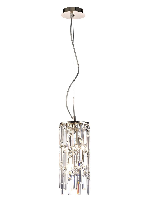 Maddison Pendant Cylinder 2 Light G9 Rose Gold/Crystal