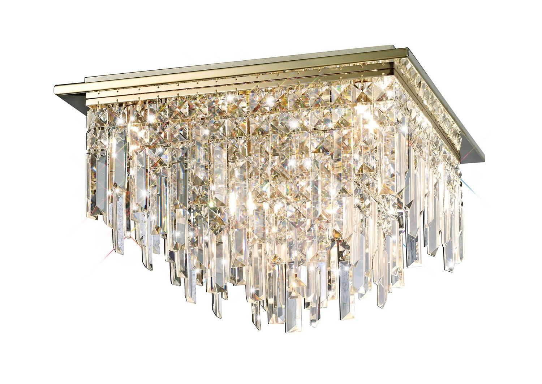 Maddison Ceiling Square 6 Light G9 Rose Gold/Crystal