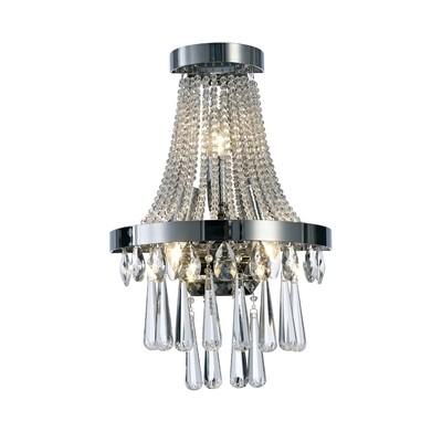 Sophia Wall Lamp 3 Light E14 Polished Chrome/Crystal
