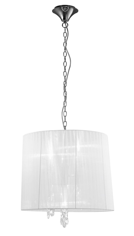 Tiffany Pendant 3+3 Light E14+G9, Clear Crystal