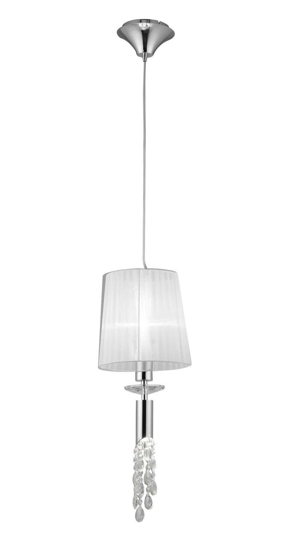Tiffany Pendant 1+1 Light E27+G9, Clear Crystal
