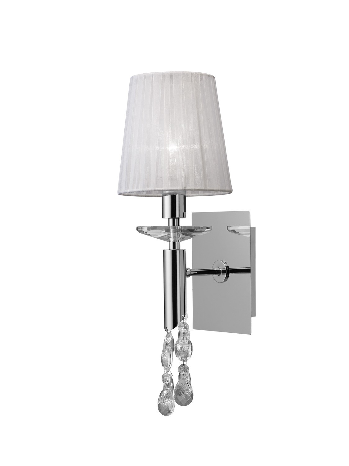 Tiffany Wall Lamp Switched 1+1 Light E14+G9,  Clear Crystal