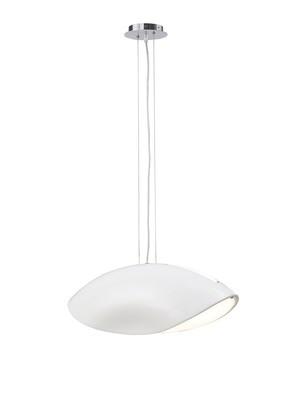 Pasion Pendant 4 Light E27, Gloss White/White Acrylic/Polished Chrome