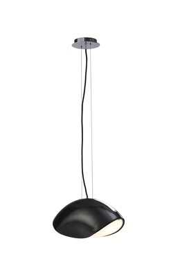 Pasion Pendant 3 Light E27, Gloss Black/White Acrylic/Polished Chrome