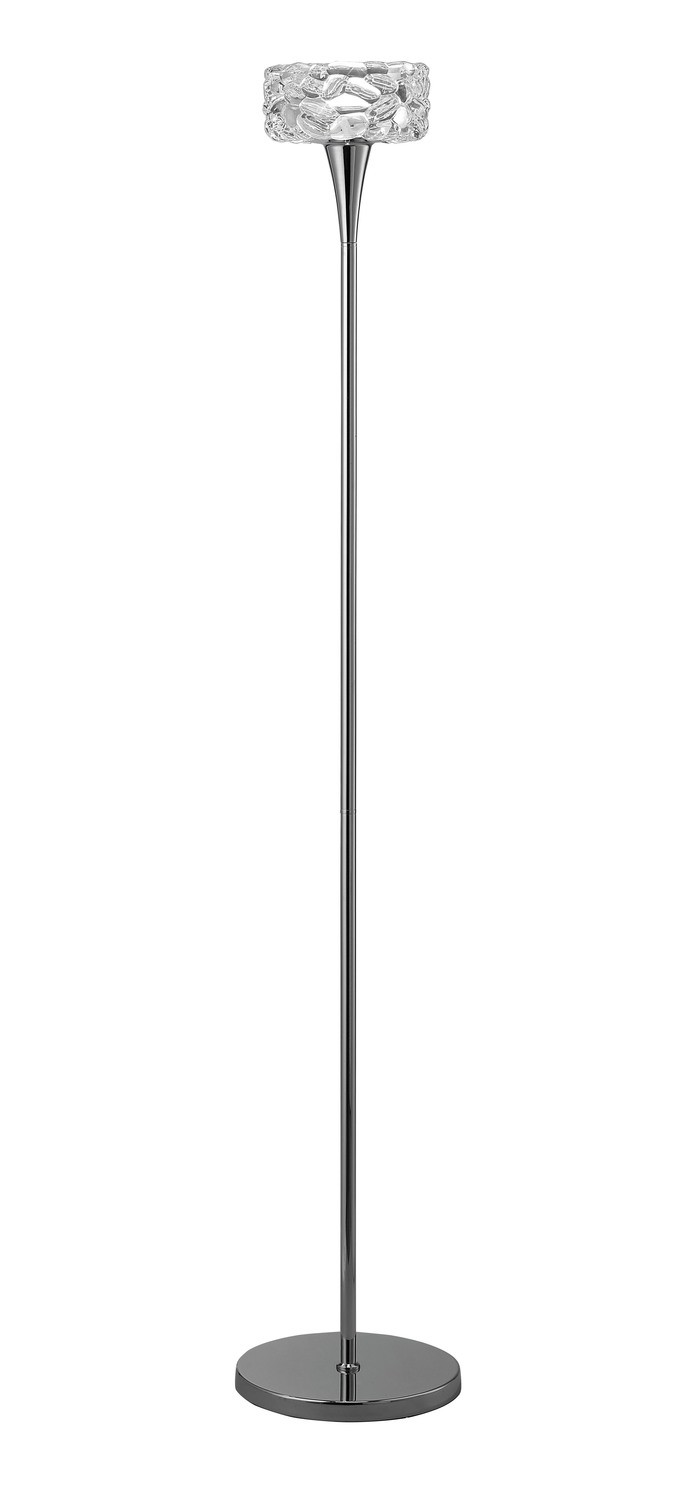 O2 Floor Lamp 1 Light E27, Polished Chrome
