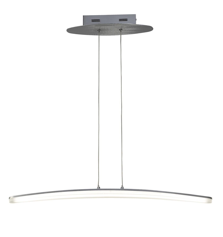 Hemisferic Pendant 20W LED 70cm Bar 3000K, 1800lm, Satin Aluminium/Frosted Acrylic