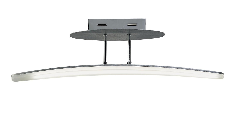 Hemisferic Semi Ceiling 20W LED 70cm Bar 3000K, 1800lm, Satin Aluminium/Frosted Acrylic, 3yrs Warranty