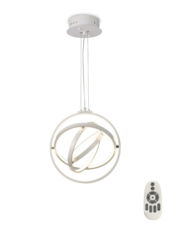 Orbital Pendant Round 40cm, 3 Ring, 54W LED 3000K, 2000lm, RF Remote Control, White