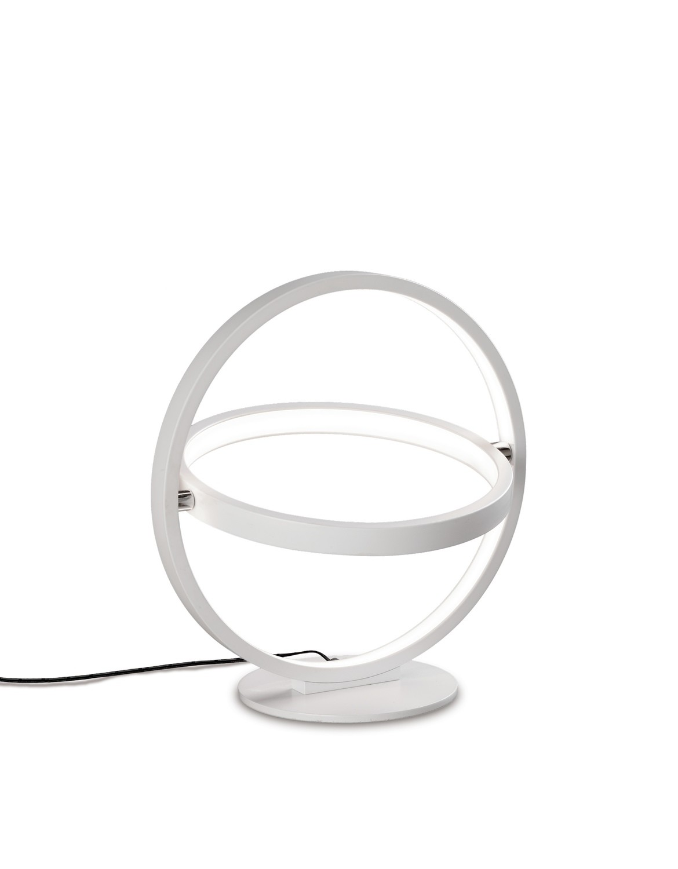 Orbital Table Lamp Round 30cm, 2 Ring, 12W LED 3000K, 660lm, White