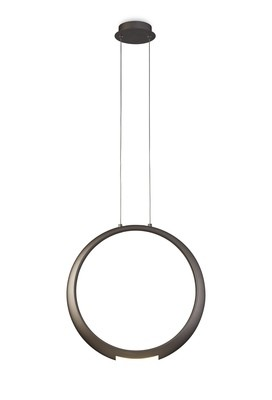 RING Pendant 50cm Round, 23W LED, 3000K, 1600lm, Bronze