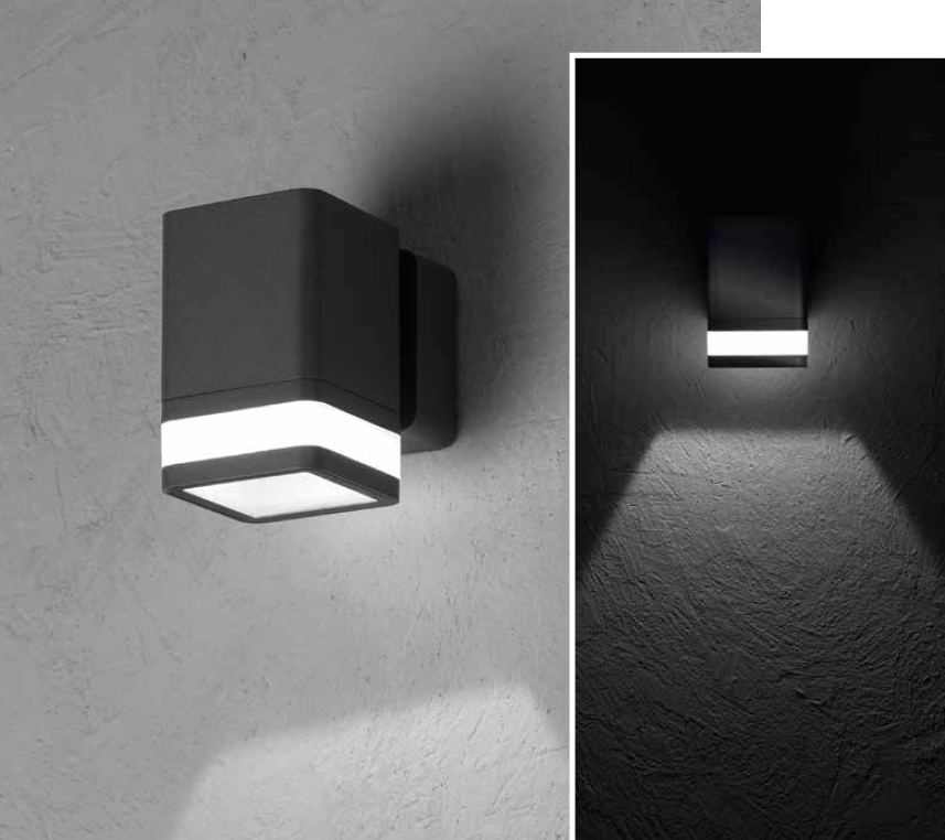 MIRACH SQ Wall-mounted luminaire mono-directional 8W 670lm