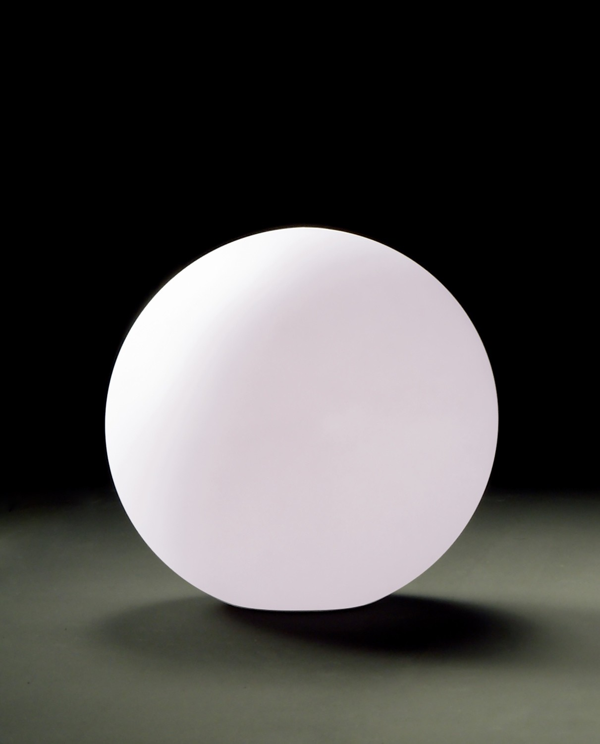 Huevo Ball Table Lamp 1 Light CFL Small In Line Switch Indoor, Opal White