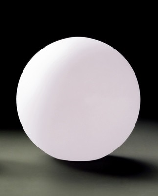 Huevo Ball Table Lamp 1 Light CFL Medium In Line Switch Indoor, Opal White
