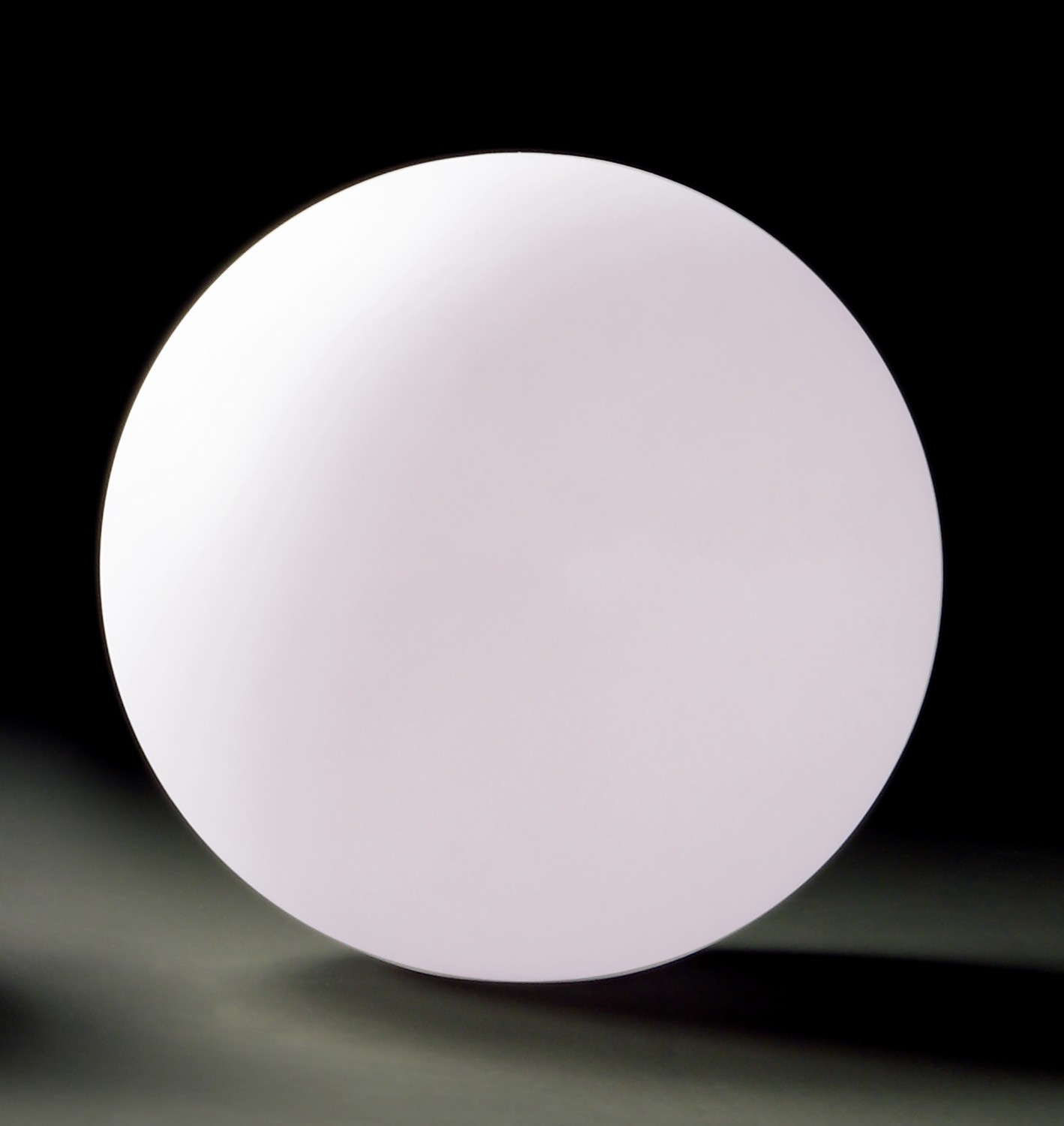 Huevo Ball Table Lamp 1 Light CFL Large In Line Switch Indoor, Opal White
