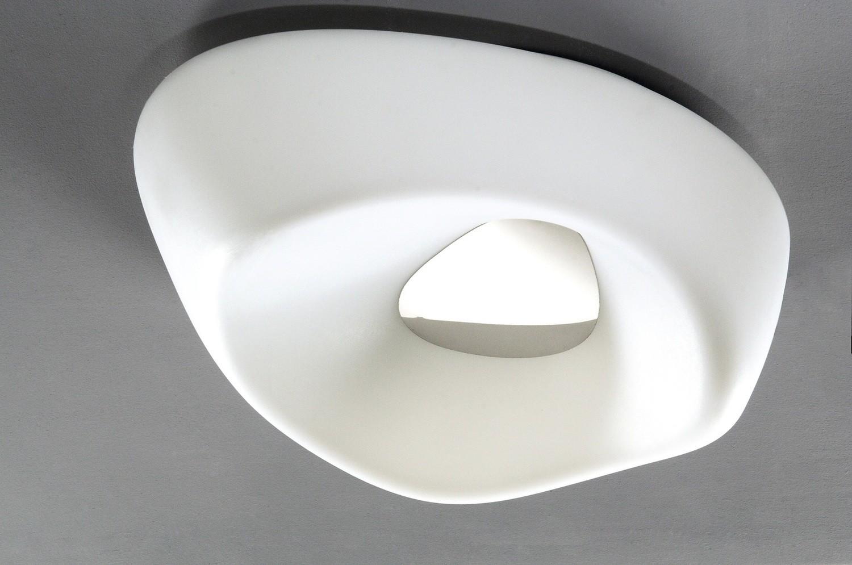 Huevo Ceiling 5 Light E27 Outdoor IP44, Polished Chrome/Opal White