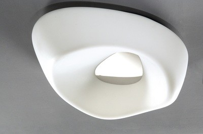 Huevo Ceiling 5 Light E27 Outdoor IP44, Polished Chrome/Opal White
