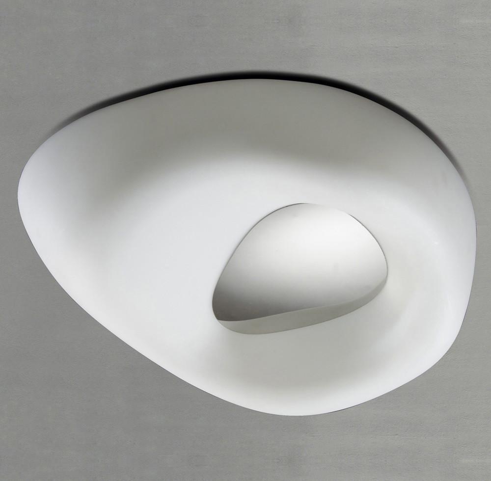 Huevo Ceiling 4 Light E27 Outdoor IP44, Polished Chrome/Opal White