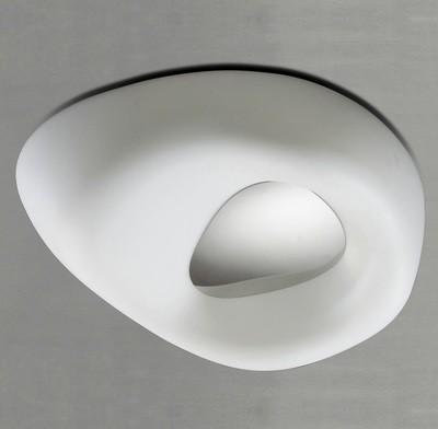 Huevo Ceiling 4 Light E27 Outdoor IP44, Polished Chrome/Opal White