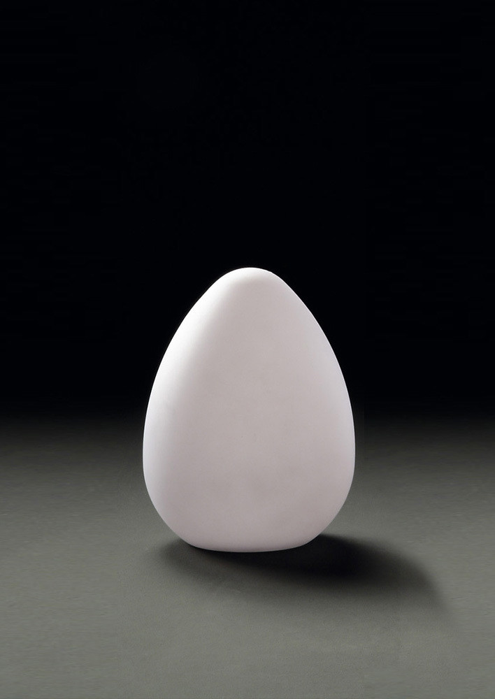 Huevo Egg Table Lamp 1 Light CFL In Line Switch Indoor, Opal White