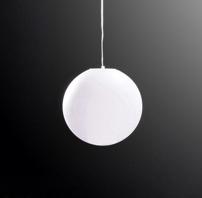 Huevo Ball Pendant 1 Light E27 Medium Outdoor IP44, Opal White