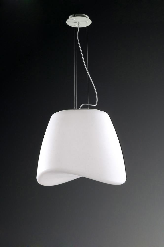 Cool Pendant 3 Light E27 Round Outdoor IP44, Matt White/Opal White