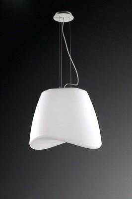 Cool Pendant 3 Light E27 Round Outdoor IP44, Matt White/Opal White
