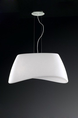 Cool Pendant 2 Light E27 Oval Outdoor IP44, Matt White/Opal White