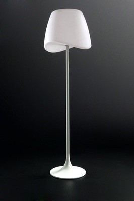 Cool Floor Lamp 2 Light E27 Foot Switch Indoor, Matt White/Opal White