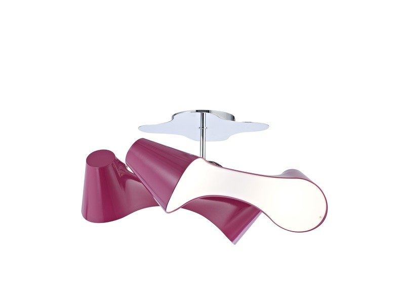 Ora Ceiling 2 Arm 4 Light E27, Gloss White/White Acrylic/Polished Chrome