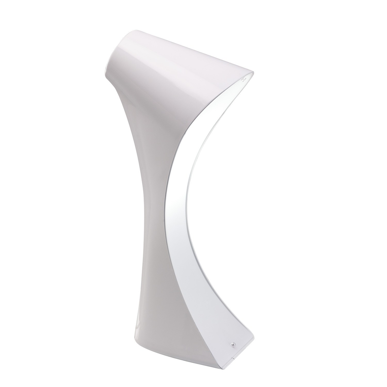 Ora Table Lamp 1 Light E27, Gloss White/White Acrylic/Polished Chrome