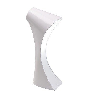 Ora Table Lamp 1 Light E27, Gloss White/White Acrylic/Polished Chrome