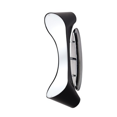 Ora Wall Lamp 2 Light E27, Gloss Black/White Acrylic/Polished Chrome
