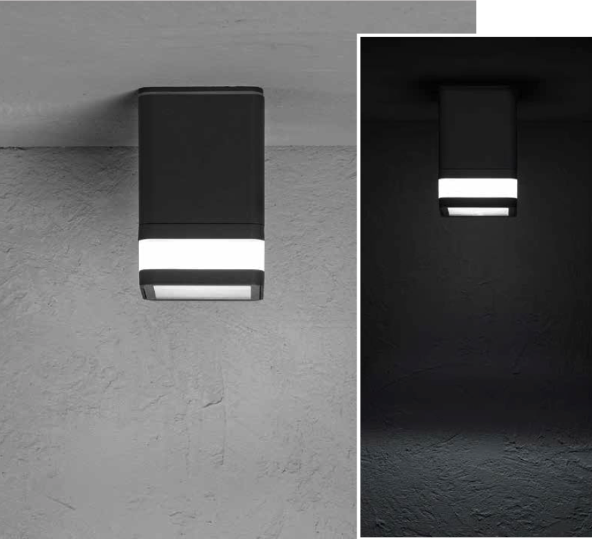 MIRACH SQ Ceiling -mounted luminaire mono-directional 8W 670lm