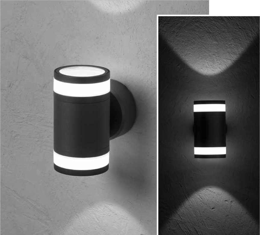 MIRACH RD Wall-mounted luminaire bi-directional 2x8W 2x670lm