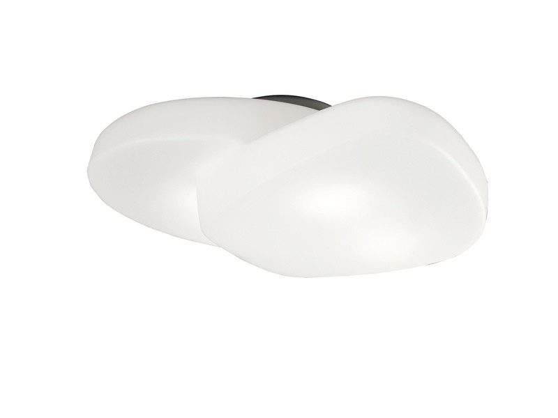Ufo Ceiling 4 Light E27 Outdoor IP44, Matt White/Opal White