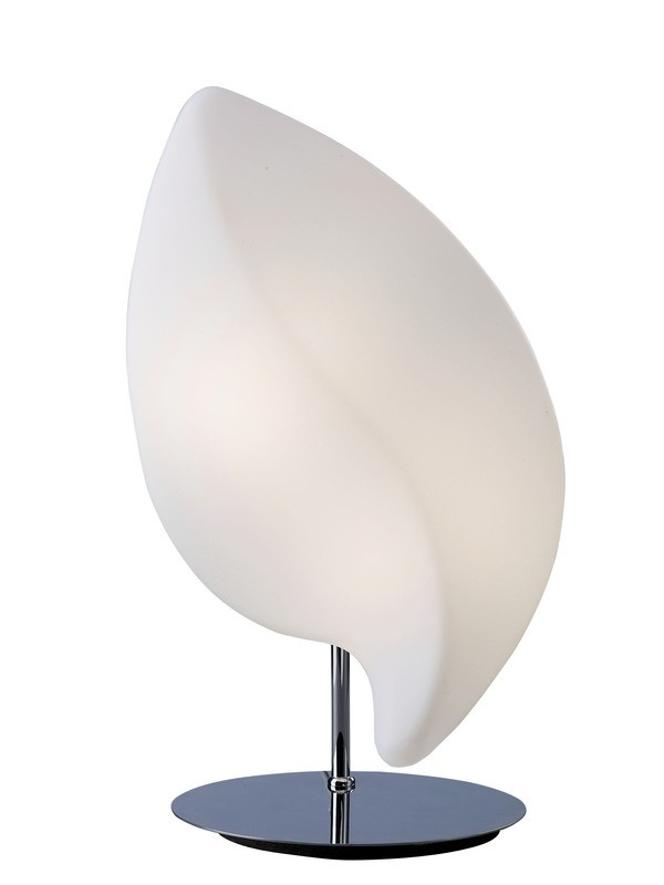Natura Table Lamp 2 Light E27 Small Indoor, Polished Chrome/Opal White