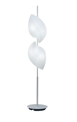 Natura Floor Lamp 4 Light E27 Outdoor IP44, Matt White/Opal White