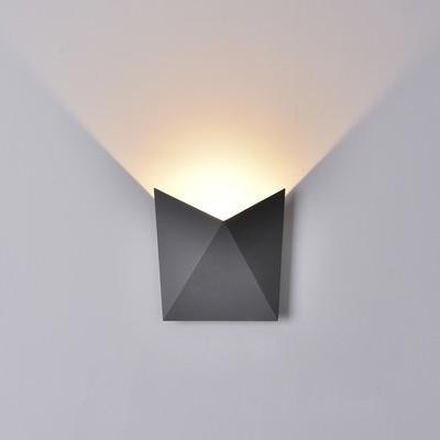 Triax Wall Lamp, 8W LED, 3000K, 750lm, IP54, Anthracite or Sand White, 3yrs Warranty
