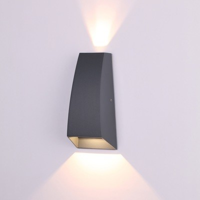 Jackson Wall Lamp, 6W LED, 3000K, 420lm, IP54, Anthracite