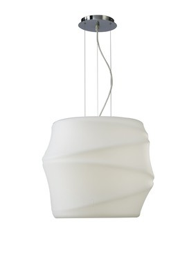 Bambu Pendant 1 Light E27 Outdoor IP44, Opal White