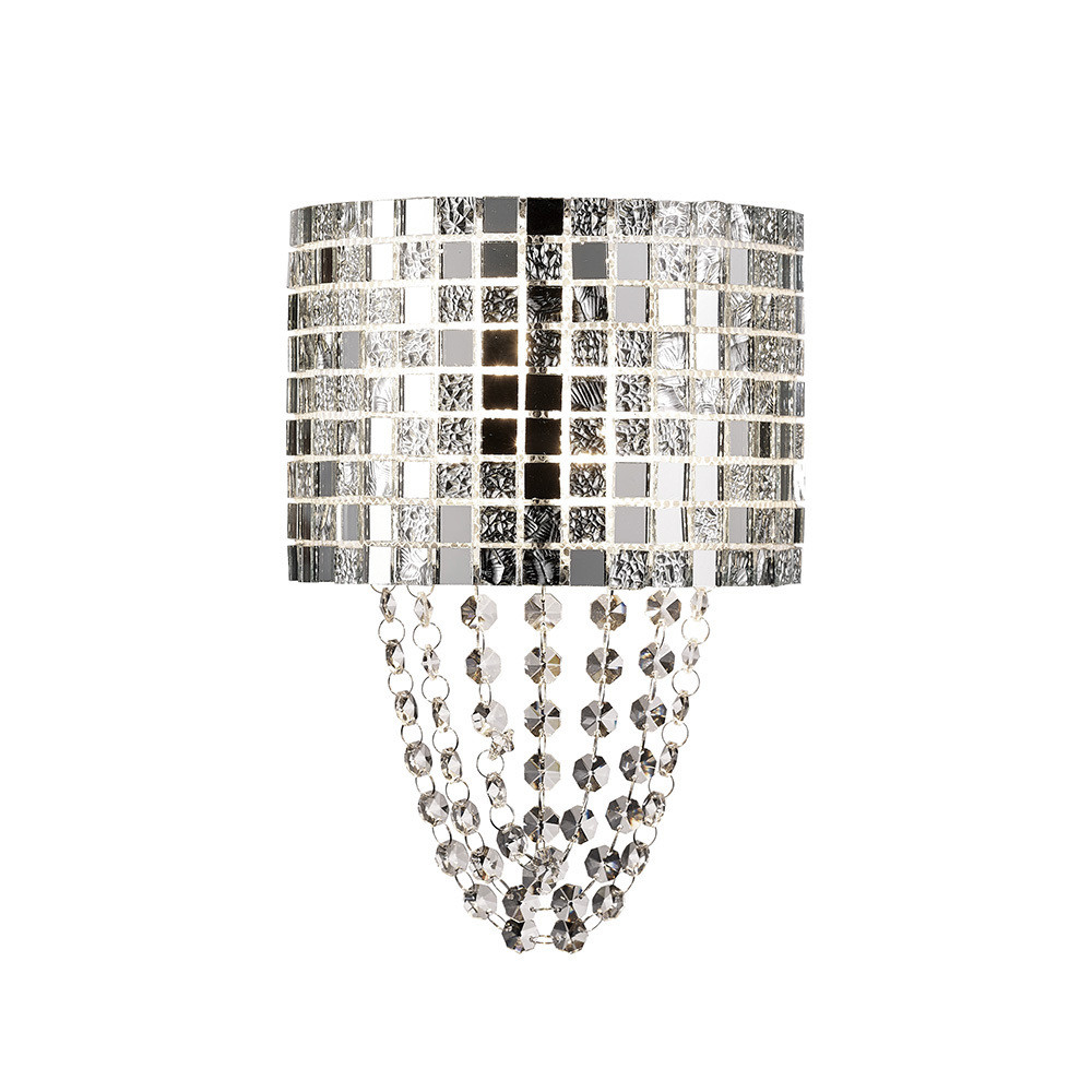 Camden Wall Lamp 2 Light G9 Mosaic Glass/Crystal