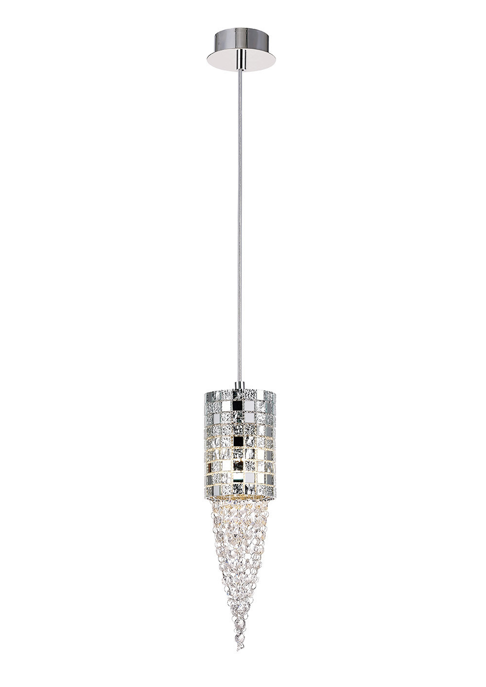 Camden Single Pendant 1 Light G9Mosaic Glass/Crystal