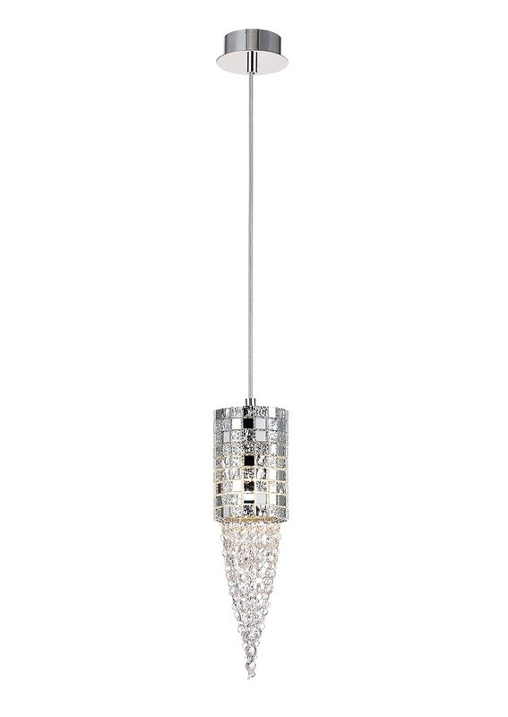 Camden Single Pendant 1 Light G9Mosaic Glass/Crystal