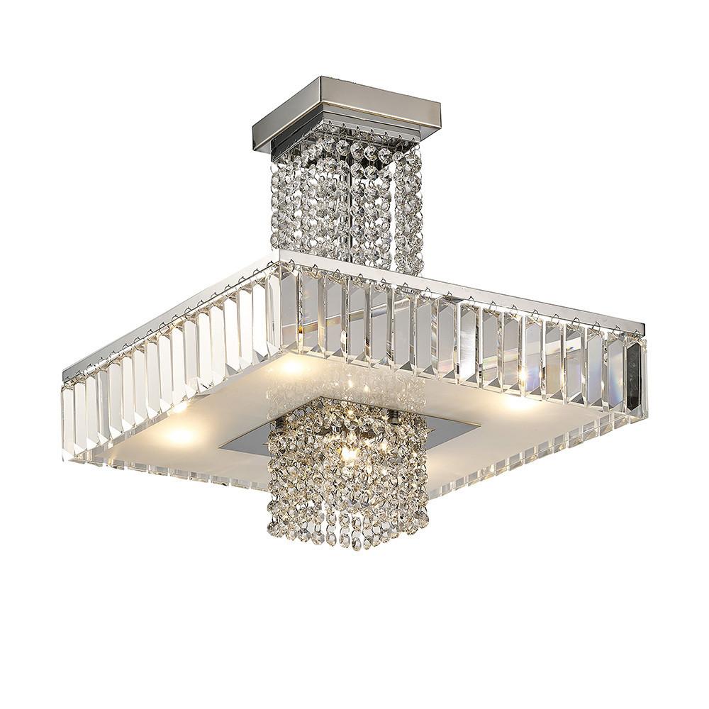 Ophelia Semi Ceiling 6 Light G9 Polished Chrome/Crystal