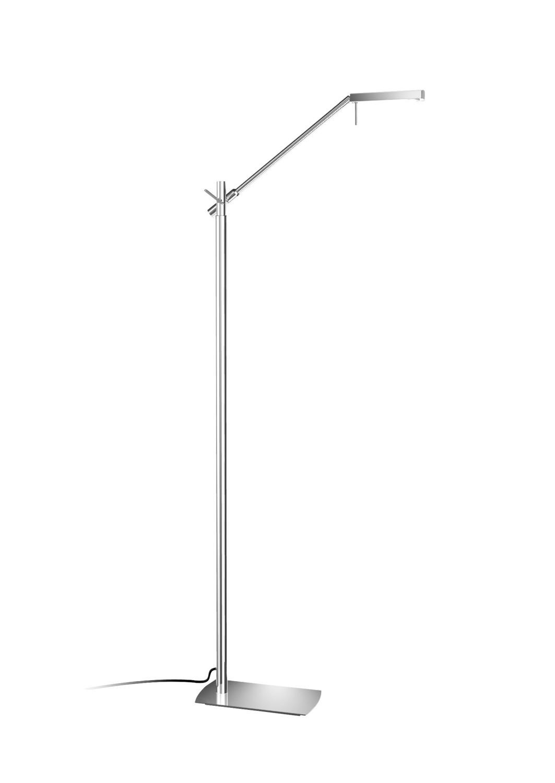 Phuket Floor Lamp 1 Light 7W LED 3000K, 600lm, Polished Chrome, 3yrs Warranty