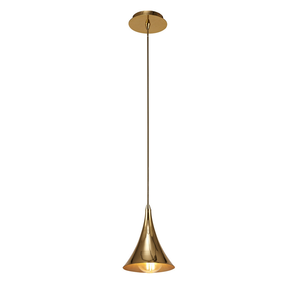Jazz Oro Pendant 1 Light E27, Gold