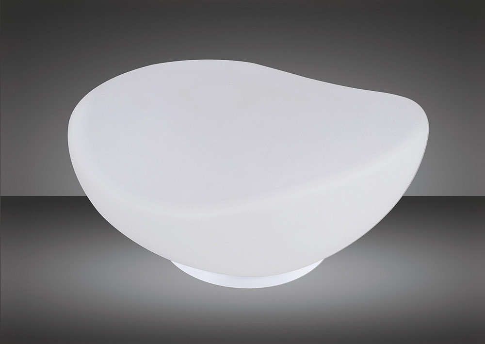 Opal Table Lamp 1 Light E27, Polished Chrome/Frosted White Glass