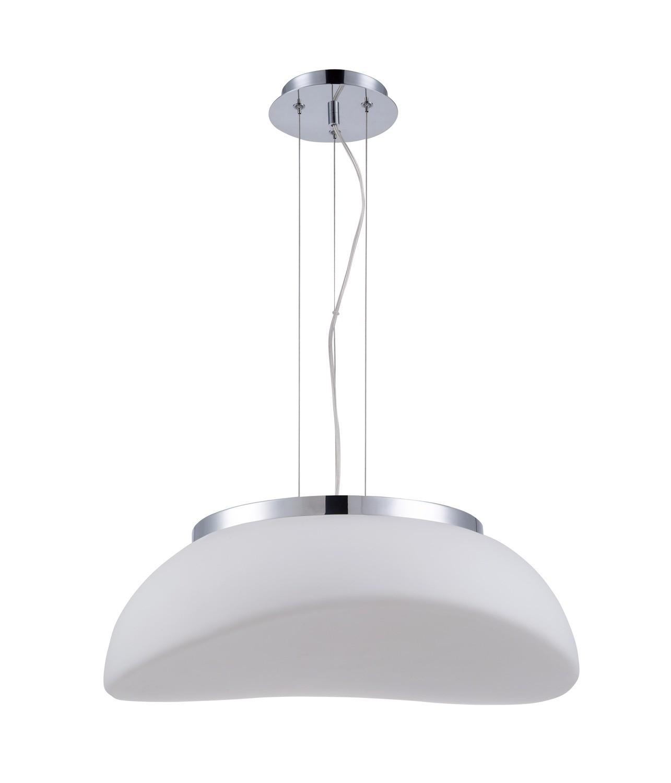 Opal Pendant 3 Light E27, Polished Chrome/Frosted White Glass