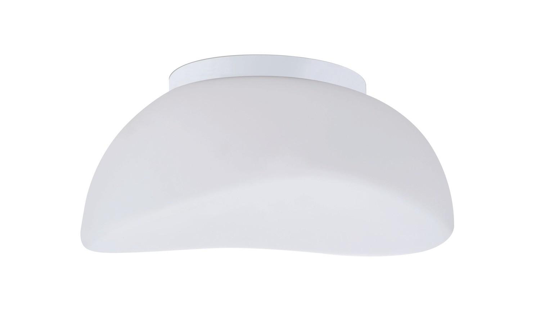 Opal Ceiling 3 Light E27, Polished Chrome/Frosted White Glass